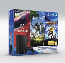 pack console Playstation 4 (1To), Horizon Zero Down, Ratchet et Clack et Drive Club (PS4) -