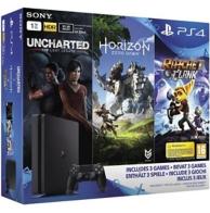 PS4 Slim E Noire 1To+ Horizon Zero Dawn + Uncharted: The Lost Legacy + Ratchet et Clank + Qui es-tu? (PS4)