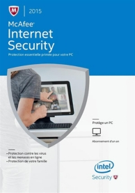 McAfee internet security 2015 (PC) (1 license - 1 an )