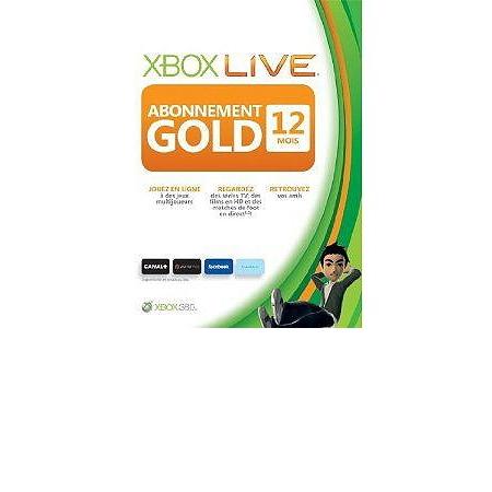 abonnement xbox live gold 12 mois xbox360 cartes. Black Bedroom Furniture Sets. Home Design Ideas