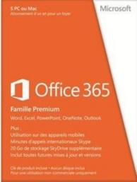 Office 365 - édition famille premium (PC-MAC) (1 license - 1 an )