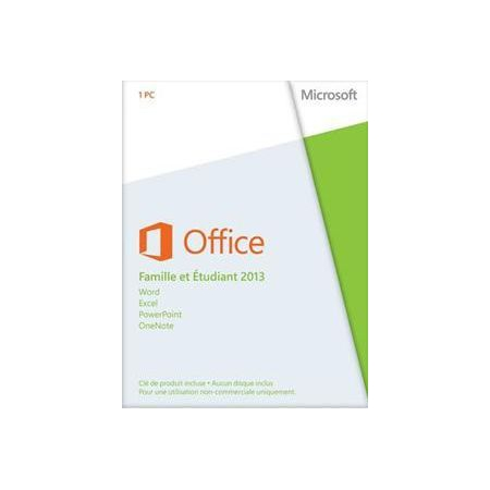 Office 2013 dition famille tudiant pc 1 license - Pack office etudiant 2013 ...