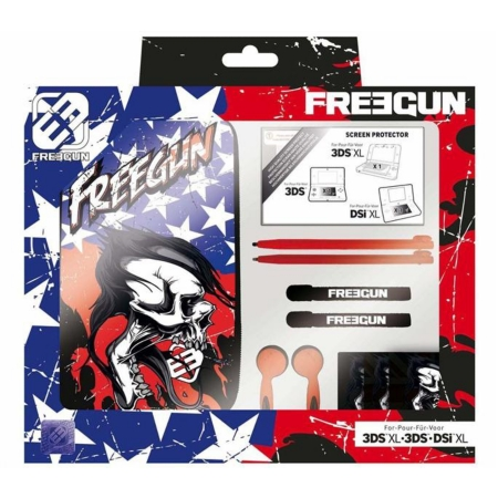 Pack essential freegun design pour nintendo 3dsxl 3ds for Housse 2ds bigben
