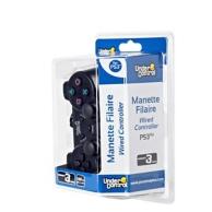 manette filaire (1,8m) pour Playstation 3 - noire (PS3)