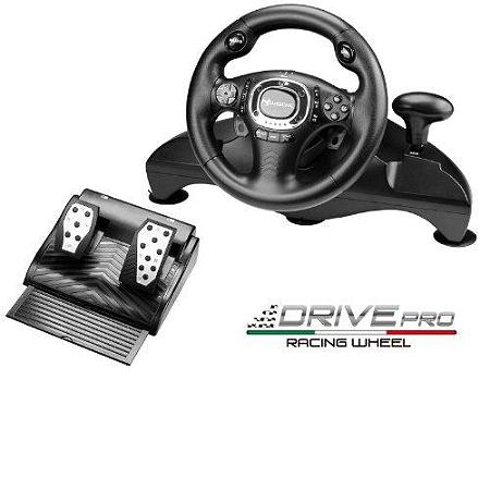 volant drive pro pour playstation 3 ps3 volants espace culturel e leclerc. Black Bedroom Furniture Sets. Home Design Ideas
