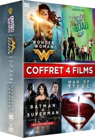 coffret super-héros 4 films : Wonder Woman ; Suicide Squad ; Batman vs Superman ; man of steel