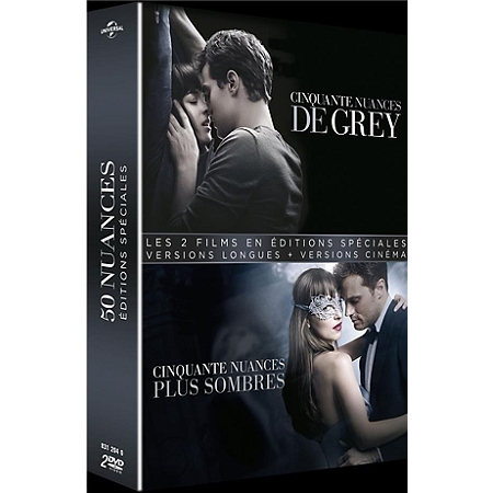 coffret 50 nuances de grey 2 films 50 nuances de grey 50 nuances plus sombres dvd dvd. Black Bedroom Furniture Sets. Home Design Ideas