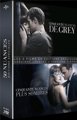 coffret 50 nuances de Grey 2 films : 50 nuances de Grey ; 50 nuances plus sombres -