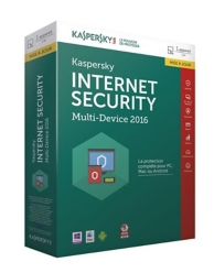 Kaspersky Internet Security 2016 (mise à jour) (PC) (1 license - 1 an )