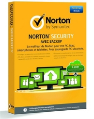 Norton Security avec backup (PC-MAC) (10 licenses )