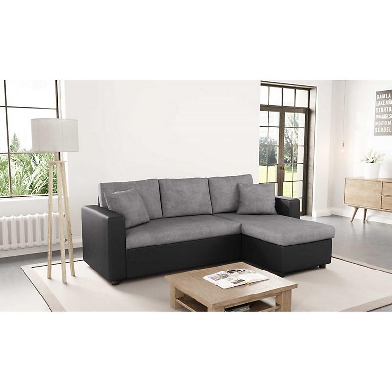 Canapé d'angle convertible avec coffre 3 places