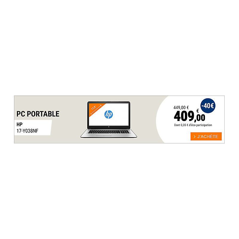 PC portable HP 17-Y038NF