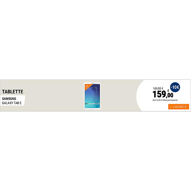 Tablette Samsung Tab E
