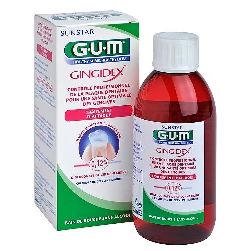 Gum gingidex bain de bouche  0,12% 300 ml