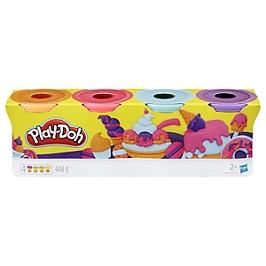 Play-Doh  4 Pots De Pate A Modeler - Couleurs Sorbets - 112 G Chacun - E4869ES0