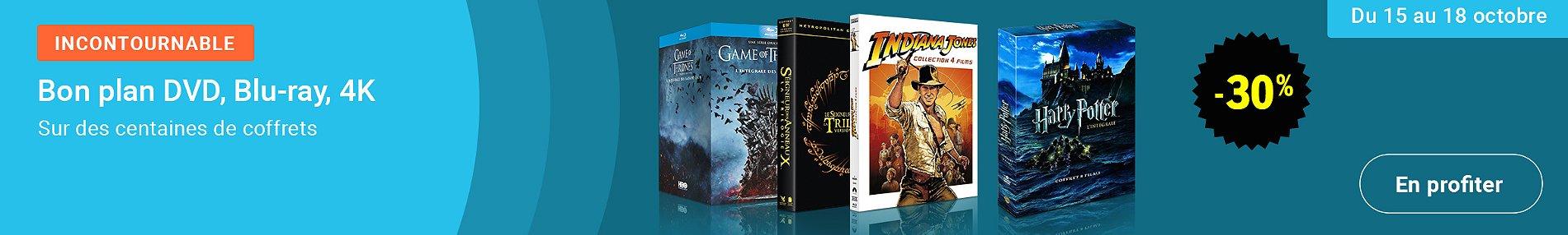 Promotion : -30% sur des coffrets DVD, Blu-ray, 4K