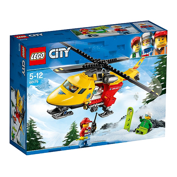 Ambulance L'hélicoptère Lego Lego® Espace 60179 Jouets City dCeBorx