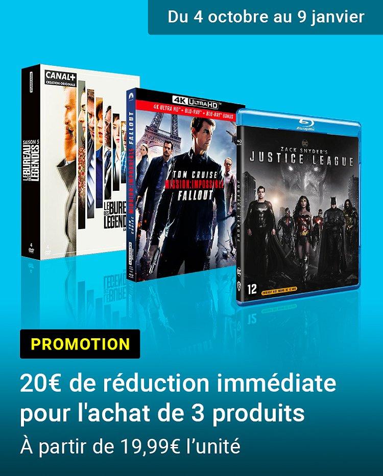 Promotion : 3 produits achetés = 20€ de réduction immédiate