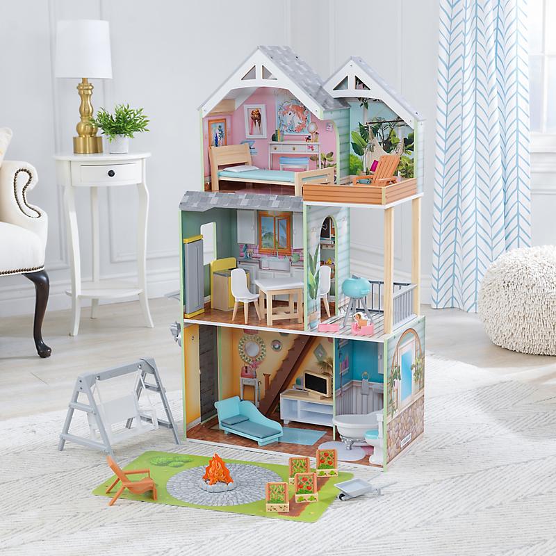Maison de poupées en bois Hallie - KIDKRAFT - Maison et Loisirs E