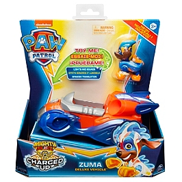 Vehicule + Figurine Zuma Mighty Pups Charged Up Paw Patrol (Solid)  - Paw Patrol - 6056876