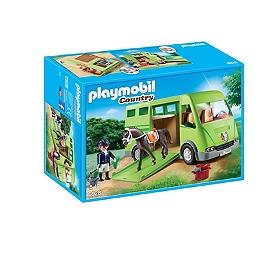 PLAYMOBIL - Cavalier Avec Van Et Cheval  - 6928