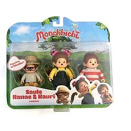 Monchhichi Pack 3 Figurines Kauri, Saule Et Hanae - Monchhichi - 81504