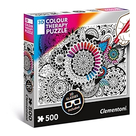 Puzzle 3D Colour Therapy 500 pièces - Flowers - 35053.7