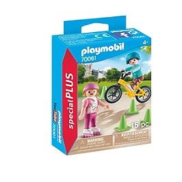 Enfants Avec Vélo Et Rollers - N/A - 70061