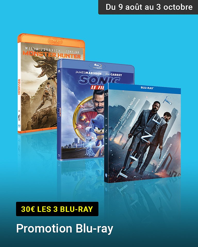Promotion Blu-ray 3 pour 30€