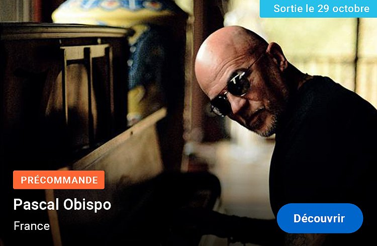Pascal Obispo - France - Précommande