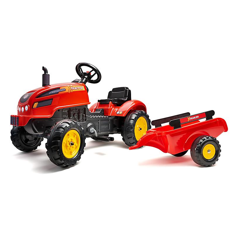 Tracteur à Pédales X Tractor Rouge Avec Capot Ouvrant Et