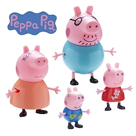 Peppa Pig - Coffret Famille (4 Figurines) - Entertainment One - PPC27