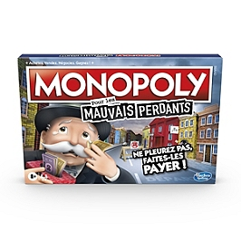 Monopoly Mauvais Perdants - Jeu De Societe - Jeu De Plateau - Version Française - E9972101