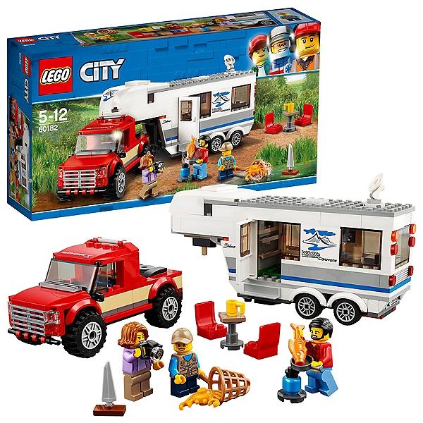 Lego® City - Le Pick-Up Et Sa Caravane - 60182