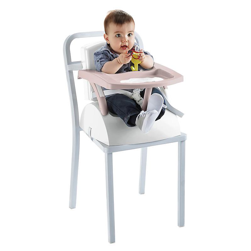 Rehausseur de chaise évolutif 2 en 1 marron glacé/blanc cassé THERMOBABY
