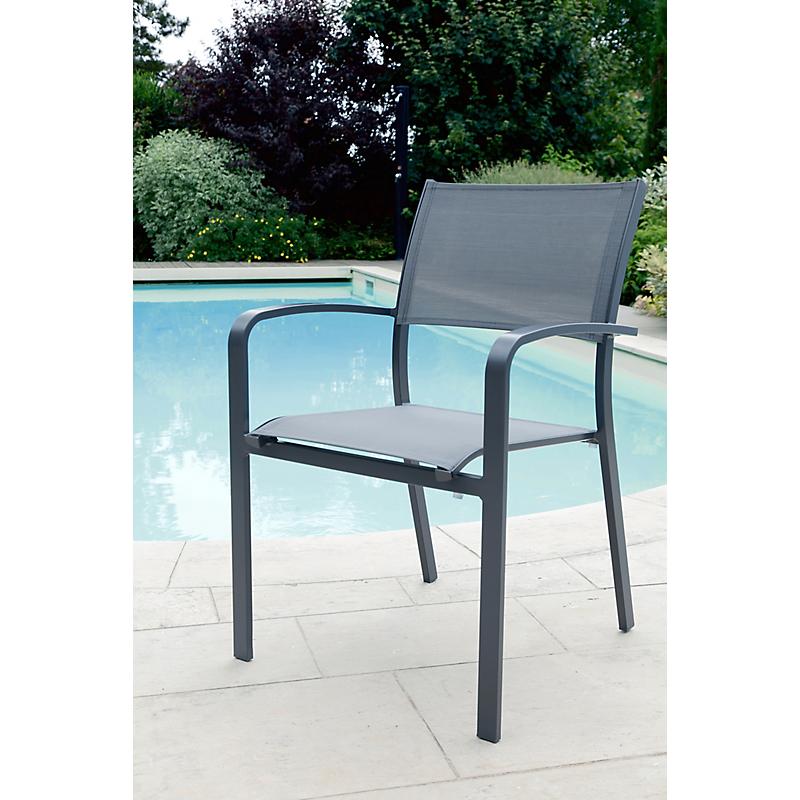 Fauteuil de jardin MILOS gris