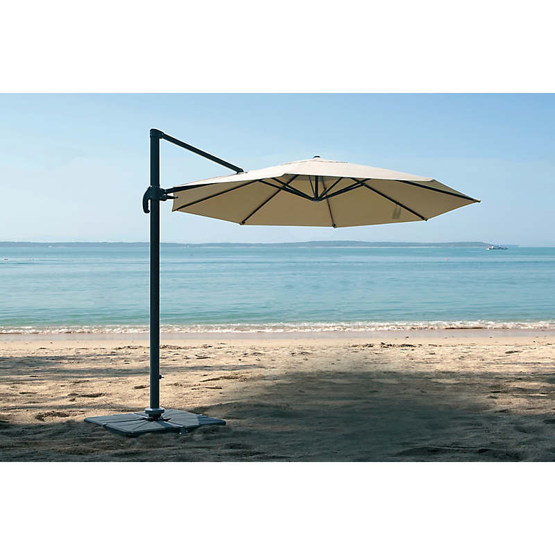 Parasol déporté TOBAGO  Ø400 x 266 cm