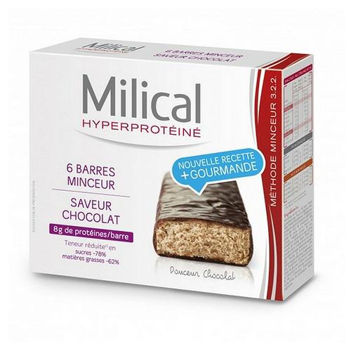 Barres hyperprotéinées minceur chocolat x6
