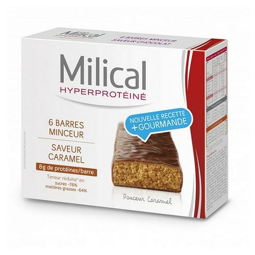 Barres hyperprotéinées minceur caramel x6