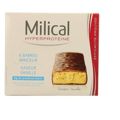 Barres hyperprotéinées minceur vanille x6