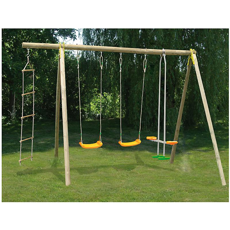 Portique bois Topwood 4 agrès - hauteur 230 cm