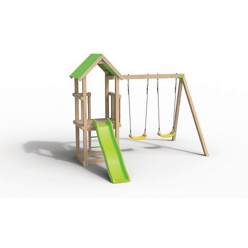 Aire de jeux en bois EASY EXPERIENCE - Portique 1.90 m et plateforme 0.90 m
