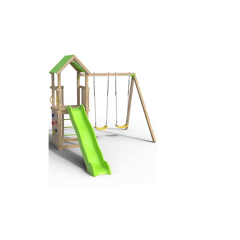 Aire de jeux en bois SMART EXPERIENCE - Portique 2.20 m et plateforme 1.20 m