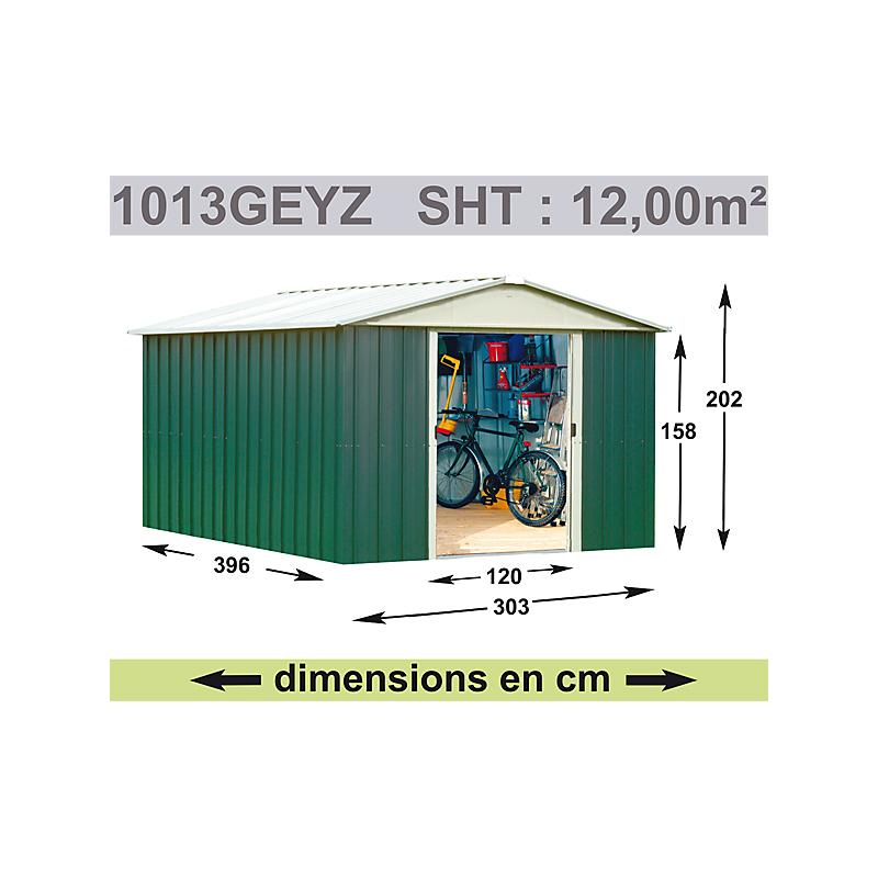 Abri de jardin métal Geyz 0,3MM 10,76 m²