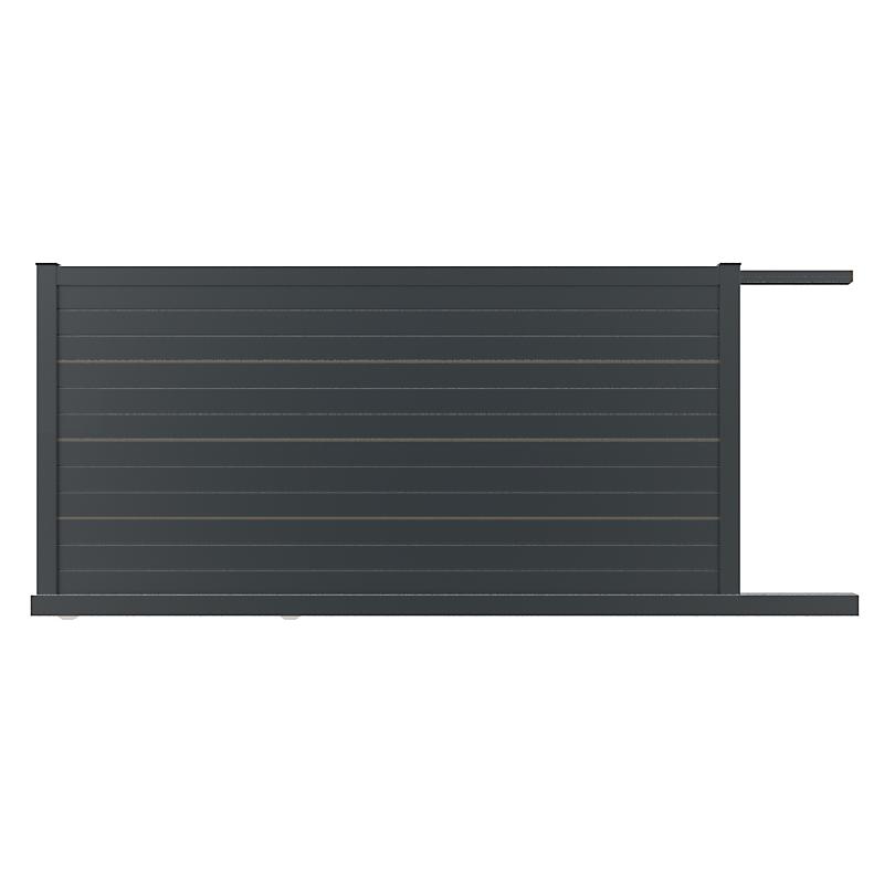 Portail coulissant KOS fourni avec moteur et digicode filaire L.3,50 x H.1,51 m
