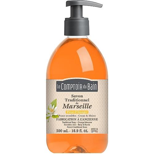 Savon liquide traditionnel de marseille fleur d'oranger 500ml