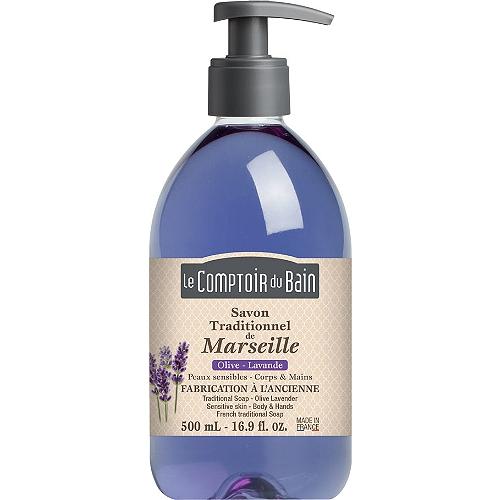 Savon liquide traditionnel de marseille olive-lavande 500ml