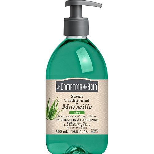 Savon liquide traditionnel de Marseille aloé 500ml