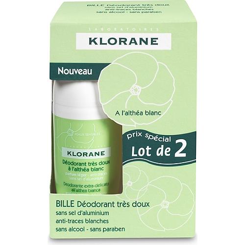 Duo déodorant bille 2x40ml
