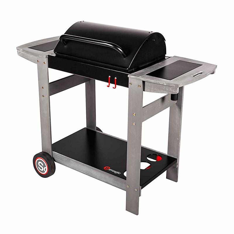 Barbecue à charbon de bois sur chariot Maison et Loisirs E